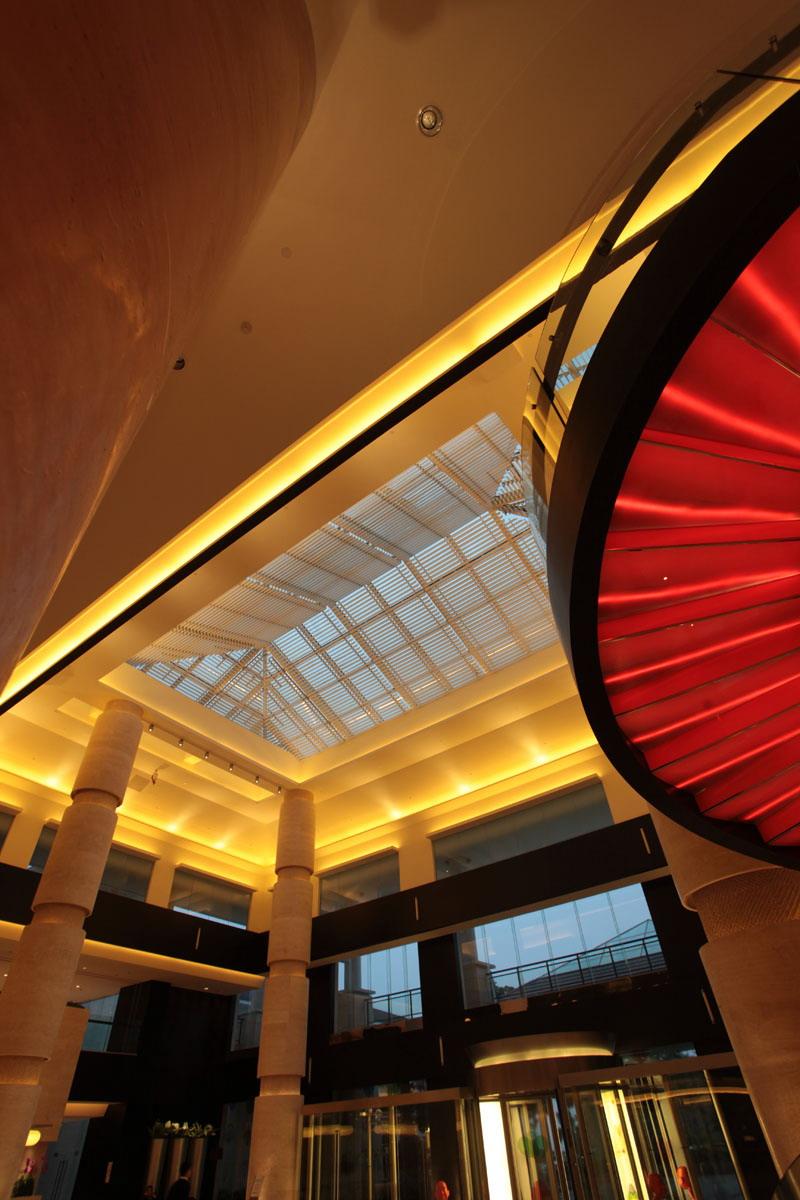 照明设计范围:建筑外墙及酒店室内照明